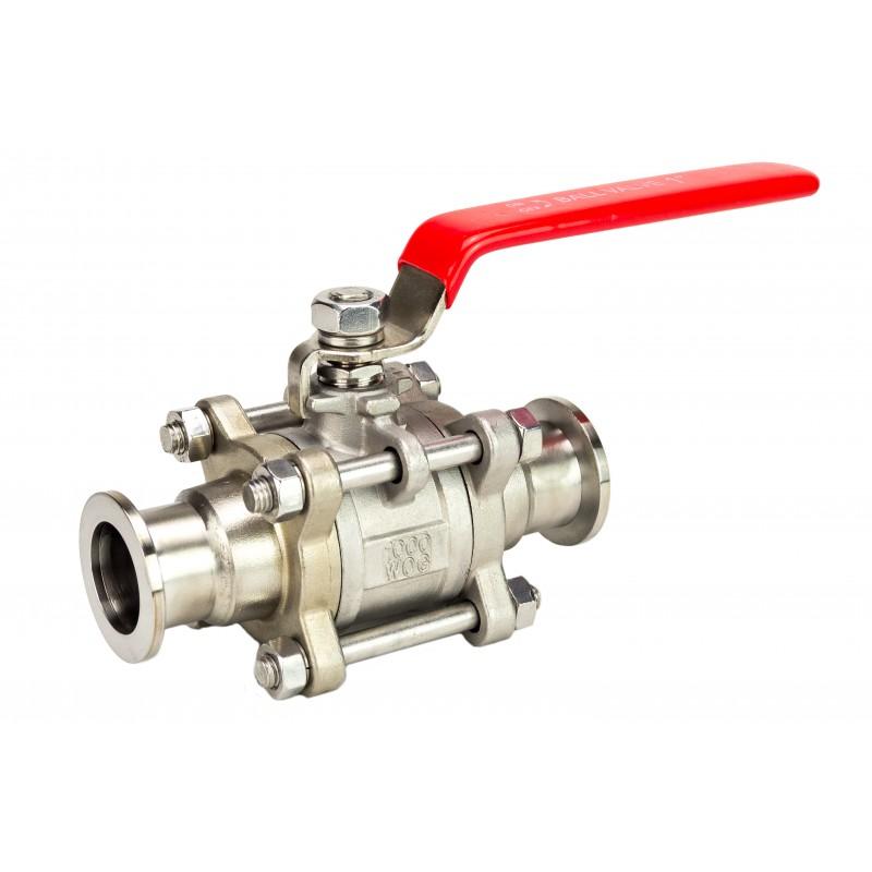 Прямоточный клапан KF50 ручной, шаровой (нержавеющая сталь)