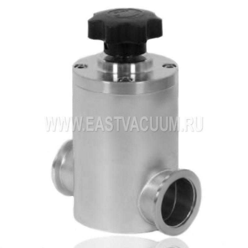 Прямоточный клапан KF50 ручной, сильфонное уплотнение (нержавеющая сталь)