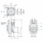 Угловой клапан KF16 с пневмоприводом, XLA(V)-16-M9 (алюминий)