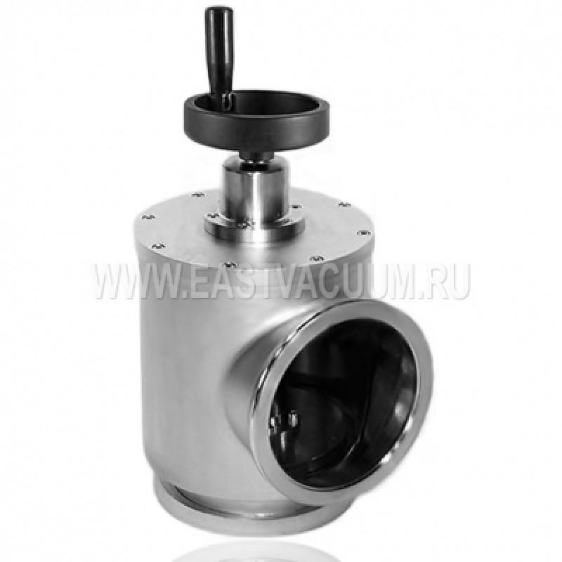 Угловой клапан ISO-K 80 ручной, витоновое уплотнение (нержавеющая сталь)