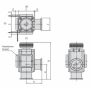 Угловой клапан KF40 ручной, сильфонное уплотнение, XLH-40 (алюминий)