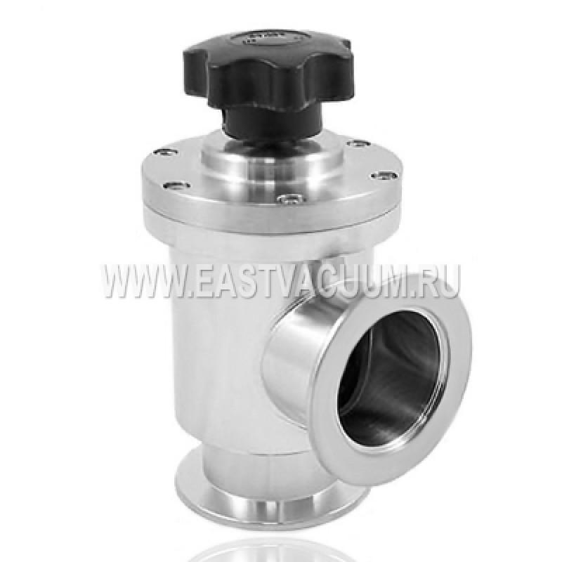Угловой клапан KF50 ручной, сильфонное уплотнение (нержавеющая сталь)