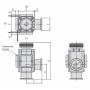 Угловой клапан KF50 ручной, сильфонное уплотнение, XLH-50 (алюминий)