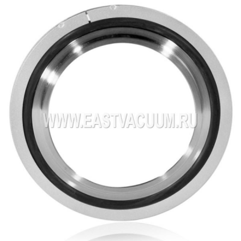 Уплотнение ISO250 с центрирующим кольцом (нержавеющая сталь 304) и внешним кольцом
