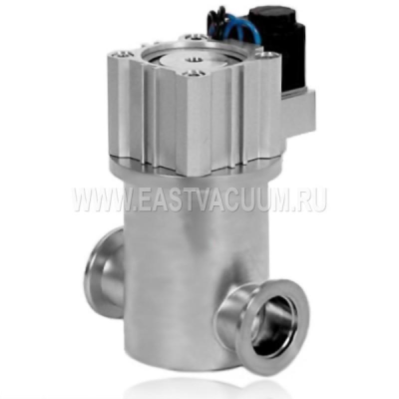 Прямоточный клапан KF40 с пневмоприводом, витоновое уплотнение (нержавеющая сталь)