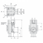 Угловой клапан  ISO100 с пневмоприводом, XLA(V)-100D-M9 (алюминий)
