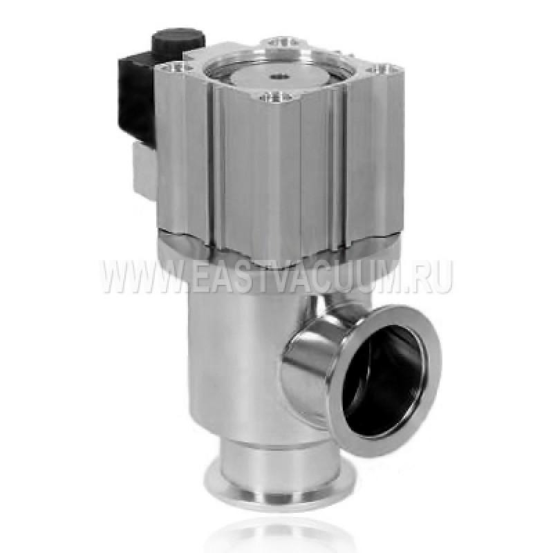 Угловой клапан KF40 с пневмоприводом, витоновое уплотнение (нержавеющая сталь)