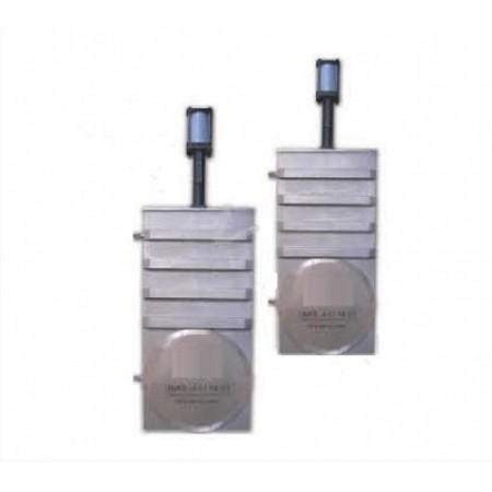 Вакуумный шиберный затвор ССQ-500B, фланец ISO-F, пневмопривод