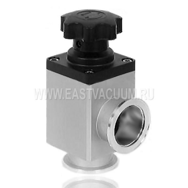 Угловой клапан KF40 ручной, сильфонное уплотнение (алюминий)