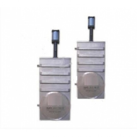 Вакуумный шиберный затвор ССQ-630B, фланец GB-LP, пневмопривод