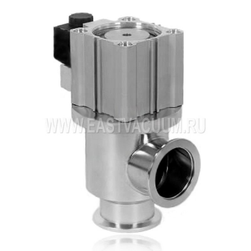 Угловой клапан KF25 с пневмоприводом, витоновое уплотнение (нержавеющая сталь)