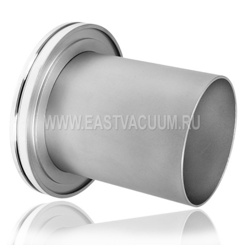 Патрубок под сварку ISO400, L=100 мм ( нержавеющая сталь )