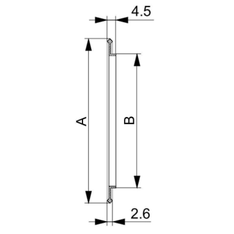 Сверхвысоковакуумное уплотнительное кольцо ISO-K 100